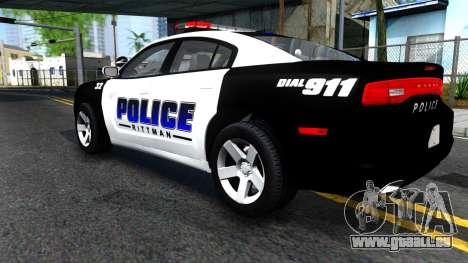 Dodge Charger Rittman Ohio Police 2013 für GTA San Andreas Rückansicht