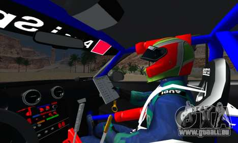 Audi RS3 Sportback Rally WRC pour GTA San Andreas vue de dessus