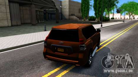 Toyota Land Cruiser Prado pour GTA San Andreas sur la vue arrière gauche
