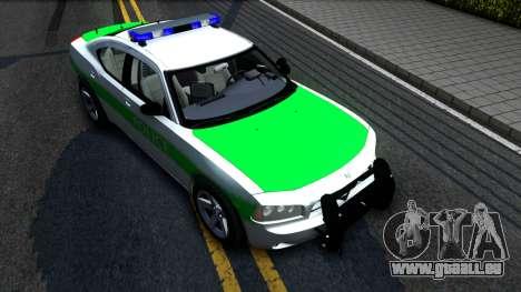 Dodge Charger German Police 2008 pour GTA San Andreas vue de droite