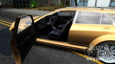 GTA V Benefactor Schafter Wagon pour GTA San Andreas vue intérieure