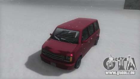 Moonbeam Winter IVF pour GTA San Andreas sur la vue arrière gauche