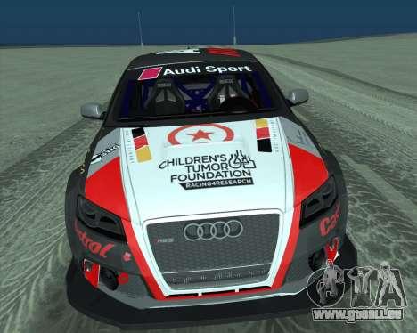 Audi RS3 Sportback Rally WRC pour GTA San Andreas vue intérieure
