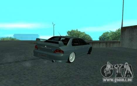 Mitsubishi Lancer Evolution VII für GTA San Andreas obere Ansicht