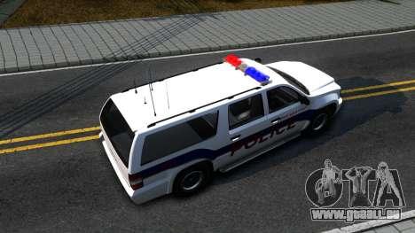 Declasse Granger Metropolitan Police 2012 pour GTA San Andreas vue de droite
