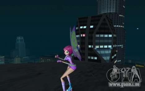 Tecna Believix from Winx Club Rockstars pour GTA San Andreas deuxième écran