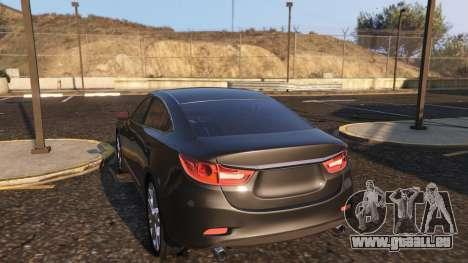 GTA 5 Mazda 6 2016 droite vue latérale