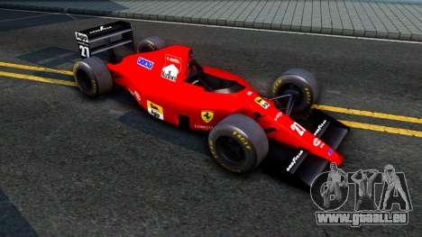 Ferrari 640 F1 1989 pour GTA San Andreas laissé vue