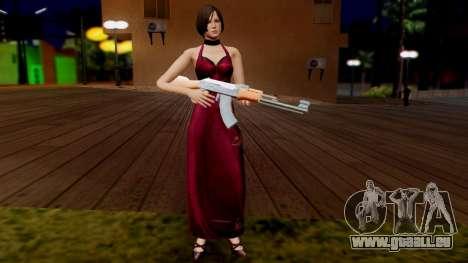 Resident Evil 6 - Ada Dress pour GTA San Andreas troisième écran