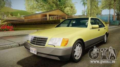 Mercedes-Benz 500SE 1991 v1.1 für GTA San Andreas