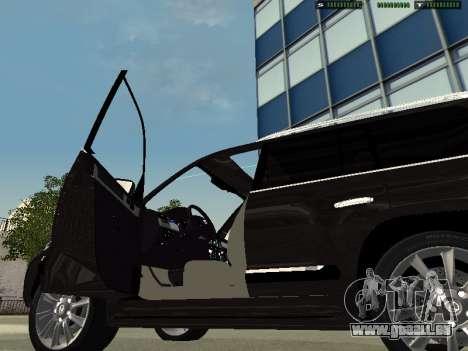 Lexus LX 570 2011 für GTA San Andreas zurück linke Ansicht