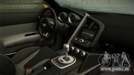 Audi R8 Coupe 4.2 FSI quattro EU-Spec 2008 Dirt pour GTA San Andreas vue intérieure