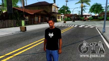 T-Shirt Watch Dogs 2 für GTA San Andreas