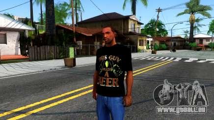 Black Beer T-Shirt für GTA San Andreas