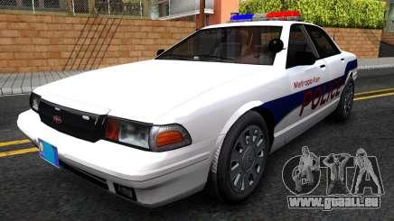 Vapid Stanier Metropolitan Police 2009 für GTA San Andreas