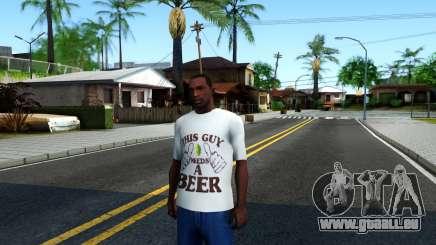 White Beer T-Shirt für GTA San Andreas