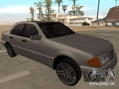 Mercedes-Benz C180 Armenian für GTA San Andreas zurück linke Ansicht
