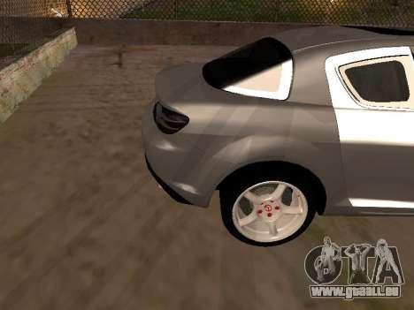 Mazda RX-8 pour GTA San Andreas vue de côté