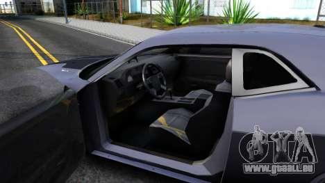 Dodge Challenger Unmarked 2010 für GTA San Andreas Innenansicht