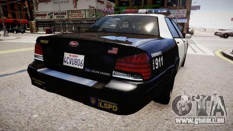 La voiture de police de GTA V pour GTA 4 Vue arrière de la gauche