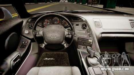 Toyota Supra MKIV 1995 für GTA 4 Innenansicht