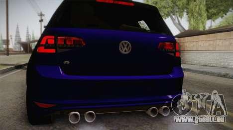 Volkswagen Golf 7R 2015 Beta V1.00 pour GTA San Andreas vue arrière