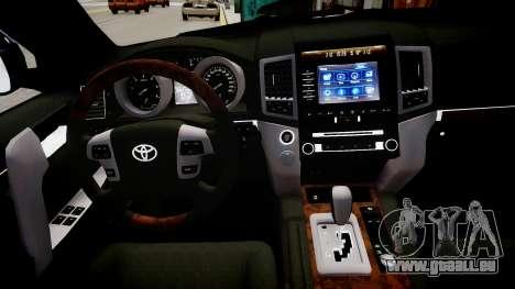 Toyota Land Cruiser 200 für GTA 4 Innenansicht
