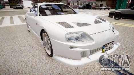 Toyota Supra MKIV 1995 für GTA 4 rechte Ansicht