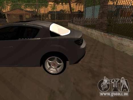 Mazda RX-8 pour GTA San Andreas vue de dessous