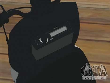 GTA IV Faggio Traveler pour GTA San Andreas sur la vue arrière gauche