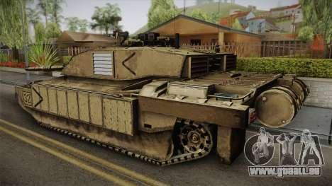 Challenger 2 Desert pour GTA San Andreas laissé vue