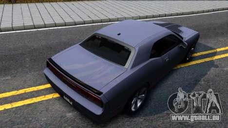 Dodge Challenger Unmarked 2010 für GTA San Andreas Rückansicht