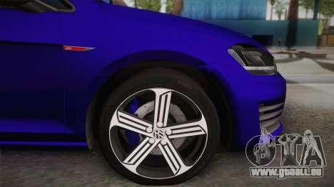 Volkswagen Golf 7R 2015 Beta V1.00 pour GTA San Andreas sur la vue arrière gauche