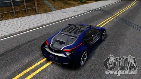 BMW Vision 3 pour GTA San Andreas vue arrière