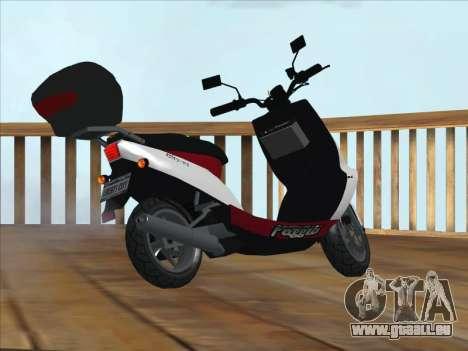 GTA IV Faggio Traveler pour GTA San Andreas laissé vue