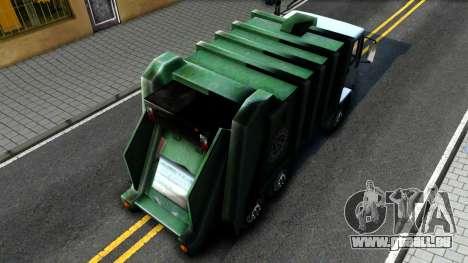 DFT Trash pour GTA San Andreas vue arrière