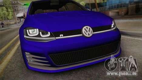 Volkswagen Golf 7R 2015 Beta V1.00 pour GTA San Andreas vue de droite