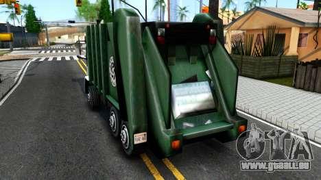 DFT Trash pour GTA San Andreas sur la vue arrière gauche