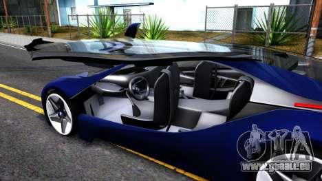 BMW Vision 3 pour GTA San Andreas vue intérieure