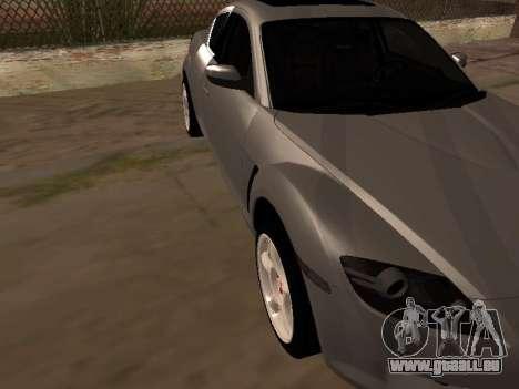 Mazda RX-8 pour GTA San Andreas vue intérieure
