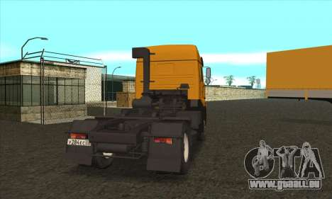 KamAZ 5460 pour GTA San Andreas sur la vue arrière gauche