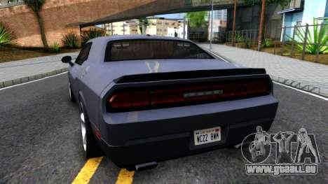 Dodge Challenger Unmarked 2010 für GTA San Andreas zurück linke Ansicht