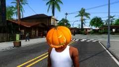 Pumpkin Mask Celebrating Halloween