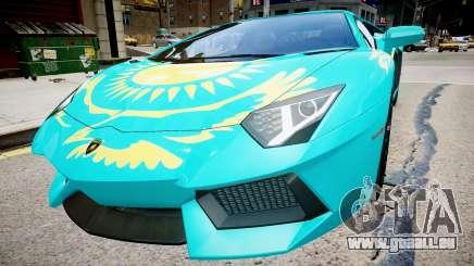 Lamborghini Aventador mit einer Flagge von Kasachstan für GTA 4