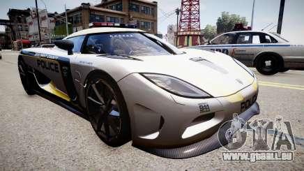 Koenigsegg Agera Police 2013 pour GTA 4