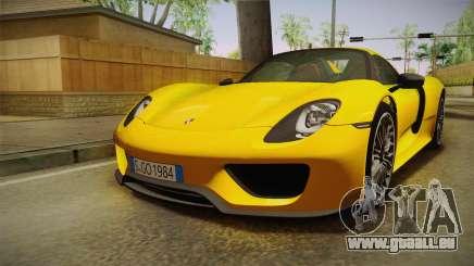 Porsche 918 Spyder 2013 EU Plate pour GTA San Andreas