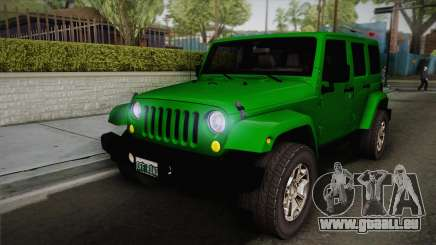 Jeep Wrangler Unlimited Rubicon 2013 pour GTA San Andreas
