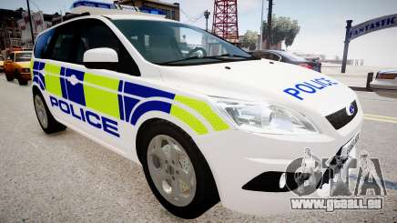 Ford Focus Estate '09 police UK pour GTA 4