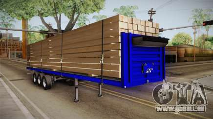Flatbed Trailer Blue für GTA San Andreas