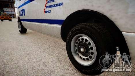 LCPD Declasse Burrito Police Transporter pour GTA 4 Vue arrière